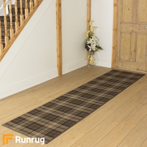 Tartan Brown Hall Runner