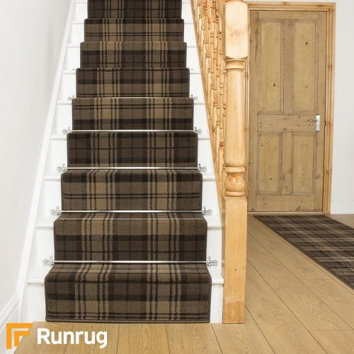 Tartan Brown Stair Runner