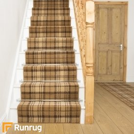 Tartan Gold Stair Runner