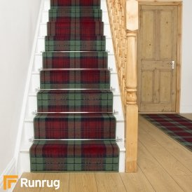 Tartan Red / Green Stair Runner