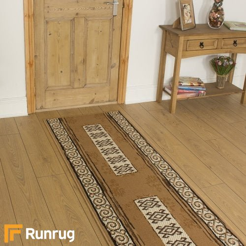 Temple Beige Hall Runner