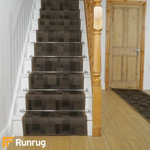Tetris Brown Stair Runner