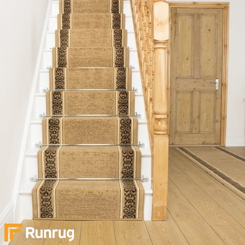 Tribal Beige Stair Runner