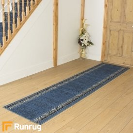 Tribal Blue Hall Runner