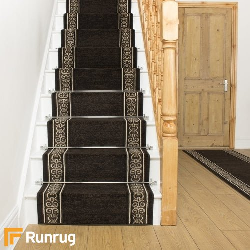 Tribal Brown Stair Runner