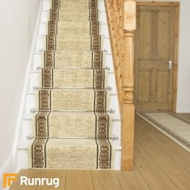 Tribal Cream Stair Runner