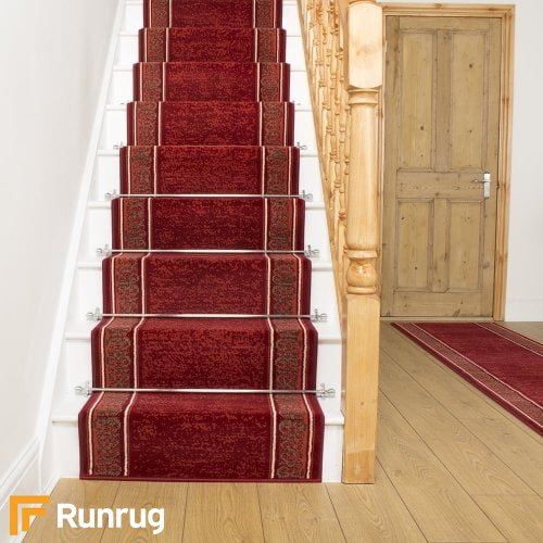 Tribal Red Stair Runner