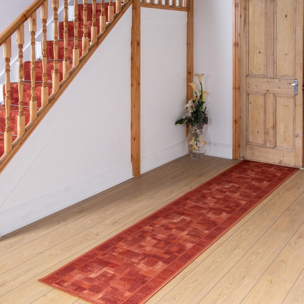 Terracotta Hallway Carpet Runner Tribe