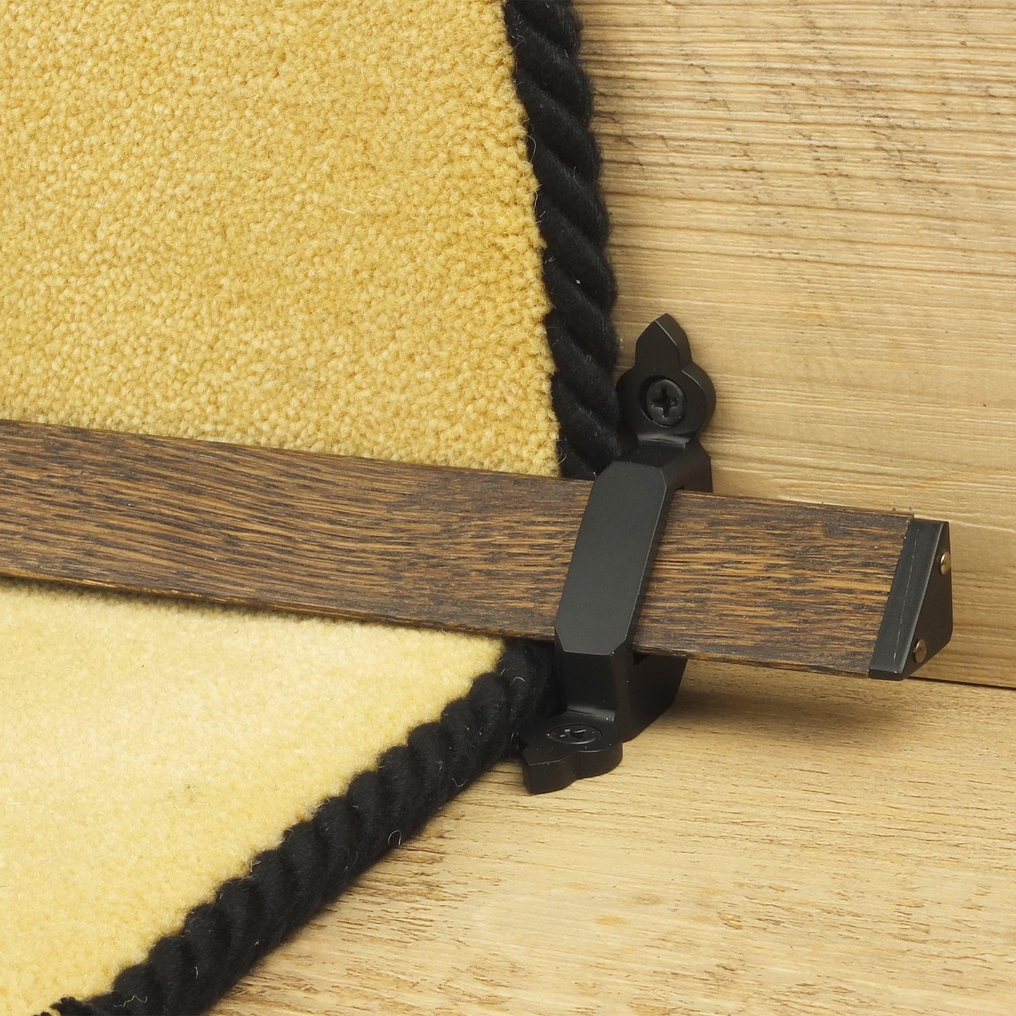 Tudor Black Dark Wood Stair Rod Bar