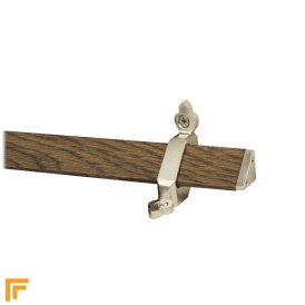 Tudor Satin Nickel Finish Dark Wood Stair Carpet Runner Rods