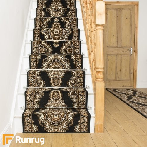 Turkesh Black Stair Runner