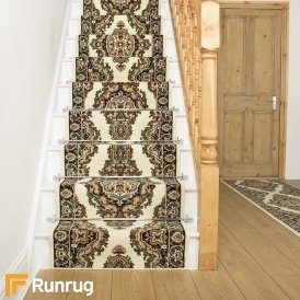 Turkesh Cream Stair Runner
