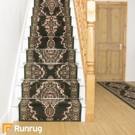 Turkesh Dark Green Stair Runner