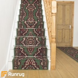 Turkesh Green Stair Runner