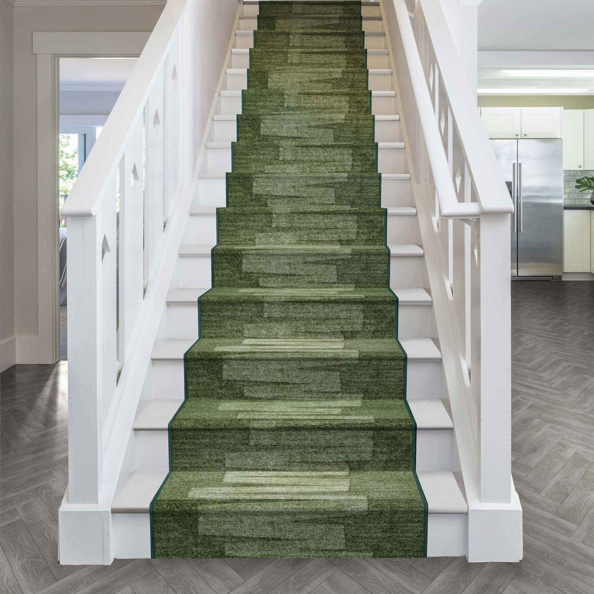 Via Veneto Dark Green Stair Runner