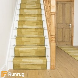 Via Veneto Green Stair Runner