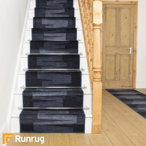 Via Veneto Midnight Blue Stair Runner