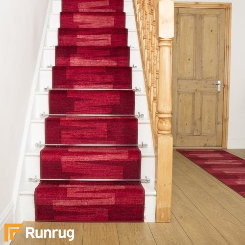 Via Veneto Red Stair Runner