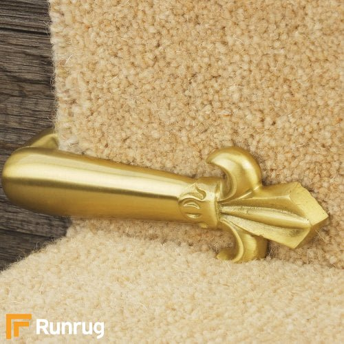 Carpets, Mats & Accessories Victorian Stair Clip - Satin Brass (Pair)