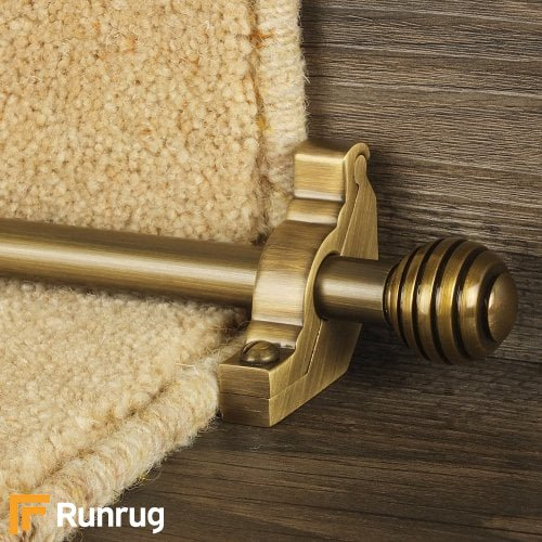 Vision Antique Finish Sphere Plain Stair Carpet Runner Rods