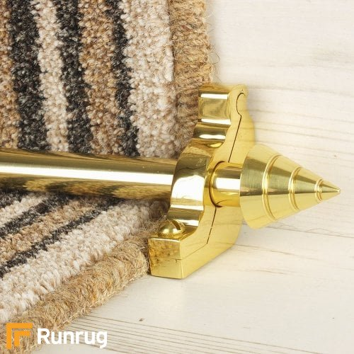 Vision Brass Finish Arrow Plain Stair Carpet Runner Rods