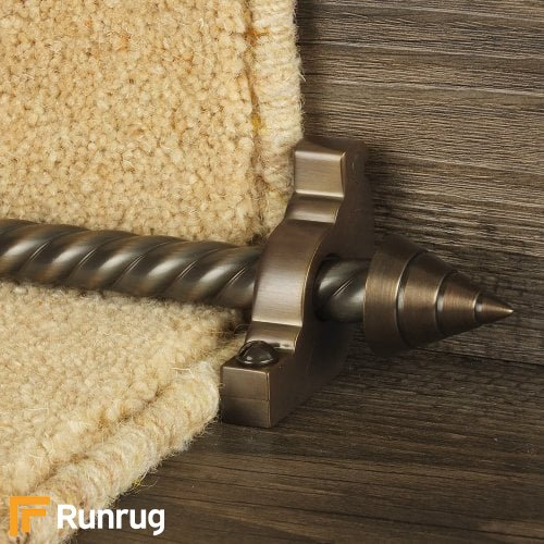 Vision Bronze Finish Arrow Spiral Stair Carpet Runner Rods