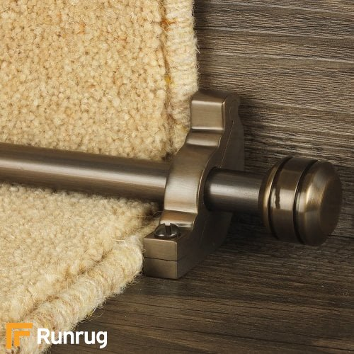 Vision Bronze Finish Piston Plain Stair Carpet Runner Rods