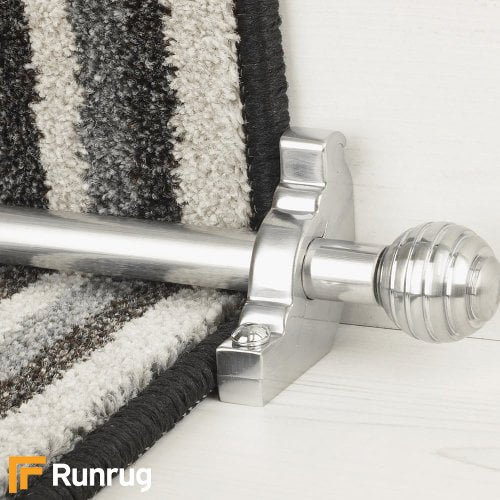 Vision Brush Chrome Finish Sphere Plain Stair Carpet