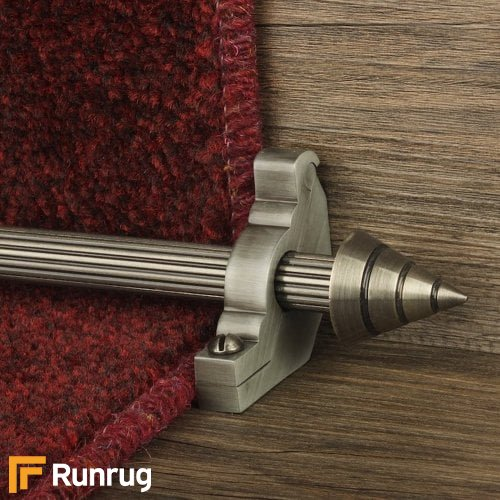Vision Pewter Finish Arrow Reeded Stair Carpet Runner Rods
