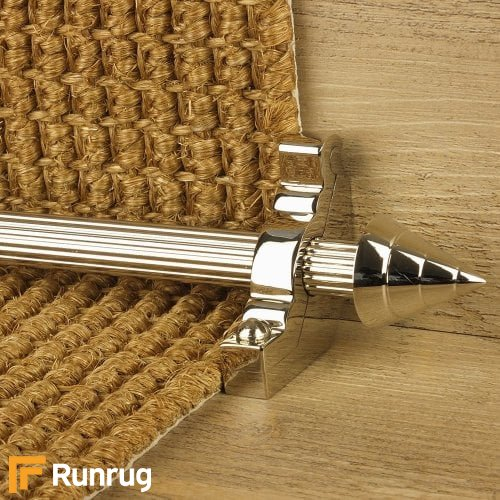 Vision Polished Nickel Finish Arrow Reeded Stair Carpet Runner Rods