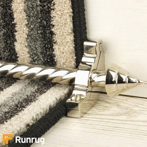 Vision Polished Nickel Finish Arrow Spiral Stair Carpet Runner Rods