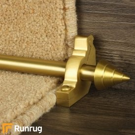 Vision Satin Brass Finish Arrow Plain Stair Carpet Runner Rods