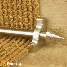 Vision Satin Nickel Finish Arrow Plain Stair Carpet Runner Rods