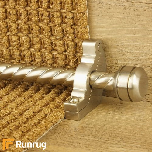 Vision Satin Nickel Finish Piston Spiral Stair Carpet Runner Rods
