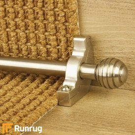 Vision Satin Nickel Finish Sphere Plain Stair Carpet Runner Rods