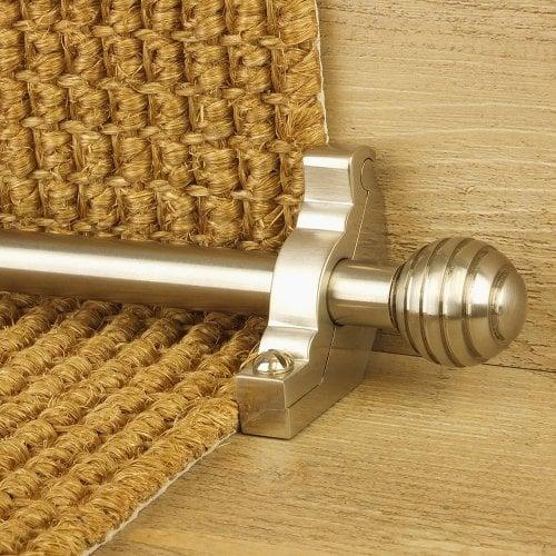Vision Satin Nickel Finish Sphere Plain Stair Carpet Runner Rods