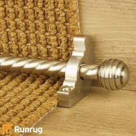 Vision Satin Nickel Finish Sphere Spiral Stair Carpet Runner Rods
