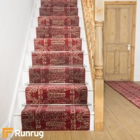 Warrior Red Stair Runner
