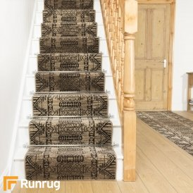 Warrior Taupe Stair Runner