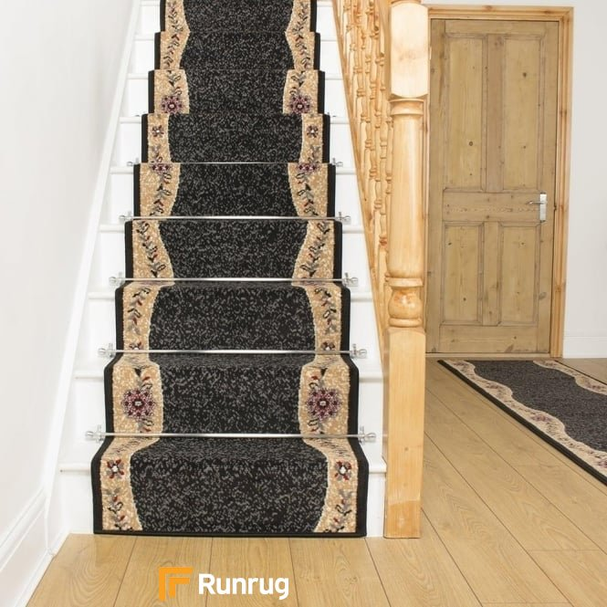Wave Black Stair Runner