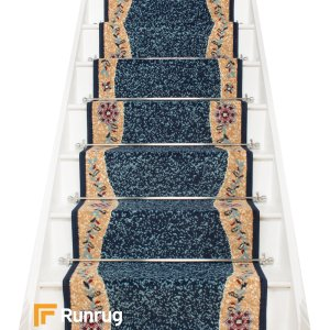 Wave Blue Stair Runner