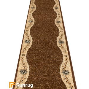 Wave Brown Hall Runner