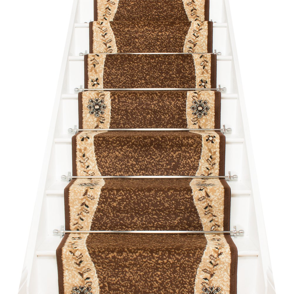 Brown Stair Carpet Runner - Wave - Carpet Runners UK