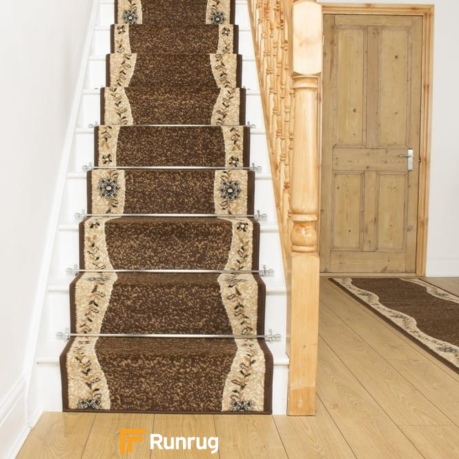 Wave Brown Stair Runner