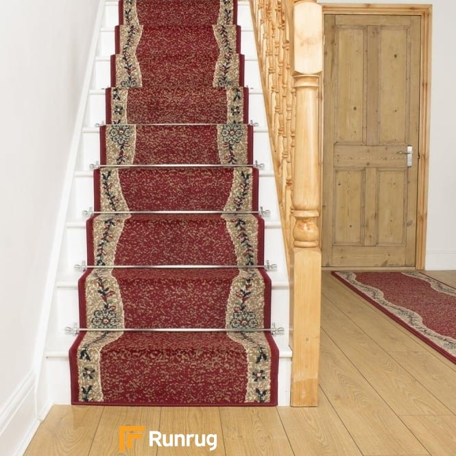 Wave Red Stair Runner