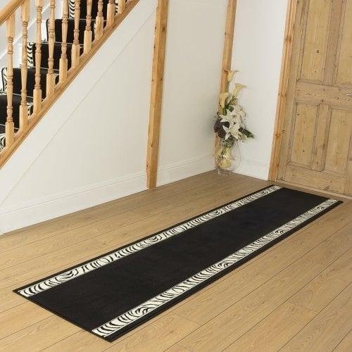 Zebra - Border Animal Print Hallway Carpet Runner