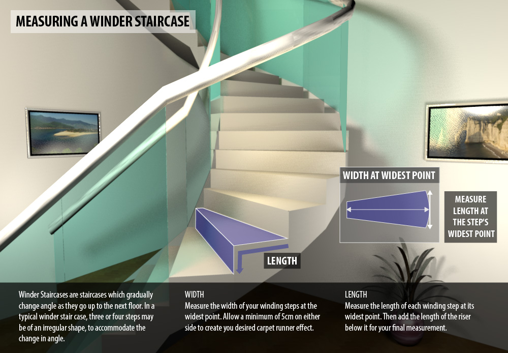 Superbe Measure Winder Staircase Stair Runner