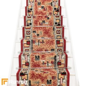 Amuse Red Stair Carpet Runner
