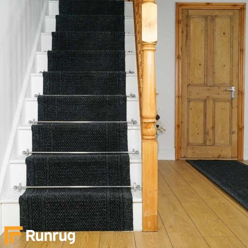 Aztec Black Stair Runners