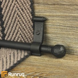 Blacksmith Black Ball Plain Stair Rod